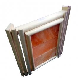 Абажур угловой липа с розовой гималайской солью. 3 плитки