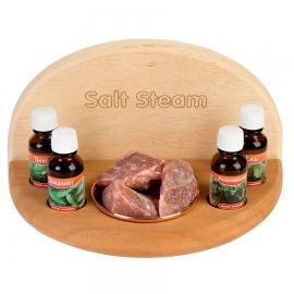 Испаритель для сауны и бани с гималайской солью Salt Steam, светлое и темное дерево
