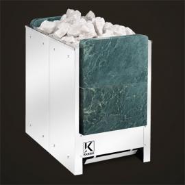 Печь-каменка электрическая для сауны KARINA Люкс 28, талькохлорит вертикальный