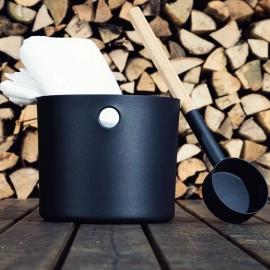 Бадья и черпак KOLO Sauna (черный)