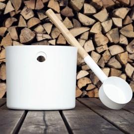 Бадья и черпак KOLO Sauna (белый)