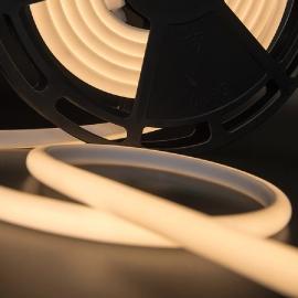 Светодиодная лента, термостойкая влагозащищенная. SMD 2835, 180 LED/м, 12 Вт/м, 24В , IP68, Цвет: Теплый белый