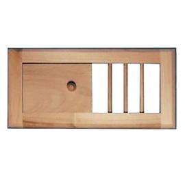 Вентиляционная решетка малая с задвижкой для бани и сауны, липа