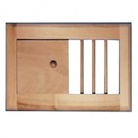 Вентиляционная решетка большая с задвижкой для бани и сауны, липа
