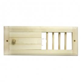 Вентиляционная задвижка малая для бани и сауны, липа