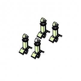 Пластмассовые клипсы 12,5мм (4 шт) TYLO