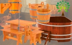 Купели. Обливные устройства. Аксессуары и мебель для бани. BENTWOOD (Россия)
