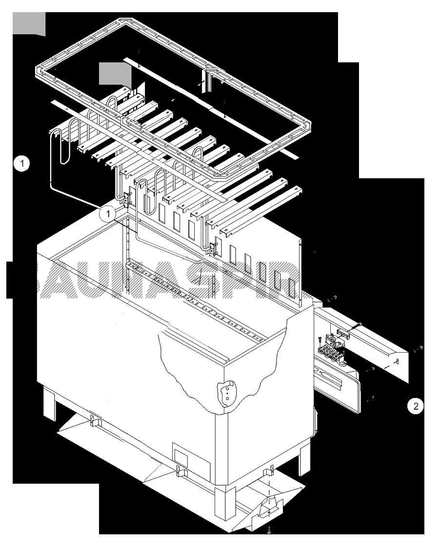 Запасные части электрокаменки для сауны Helo SKLA 260. Взрыв схема каменки Helo SKLA 260.